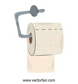 toilet paper hygiene hanging roll isolated design