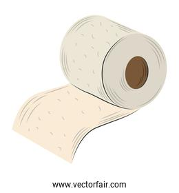 toilet paper clean and hygiene isolated design