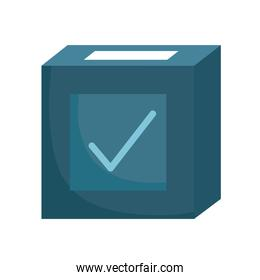 box voting election democracy check mark, white background