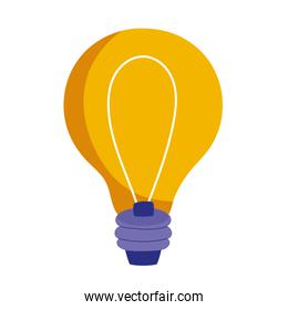 light bulb energy electricity power icon white background