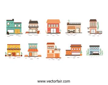 Stores set isolated vector design