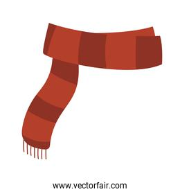 winter scarf clothes warm cartoon, icon isolated image