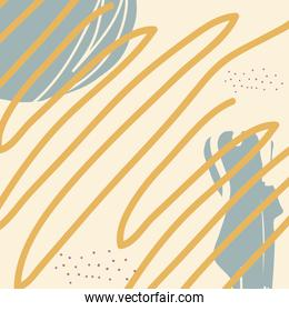 Abstract pattern background with scribble vector design