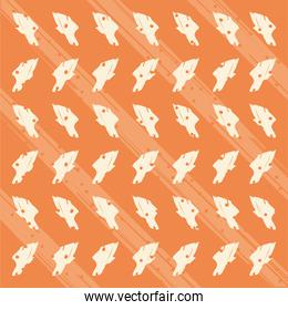 Abstract orange and white pattern background vector design