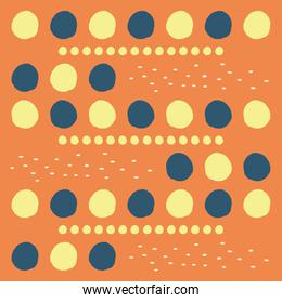 Abstract orange pattern background with circles vector design