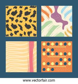 Abstract pattern backgrounds icon collection vector design