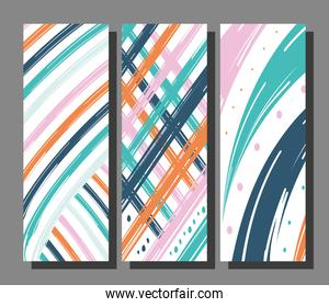 Abstract pattern backgrounds bundle vector design