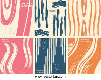 Abstract pattern backgrounds icon bundle vector design