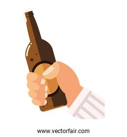 cheers hand holding bottle beverage drink alcohol