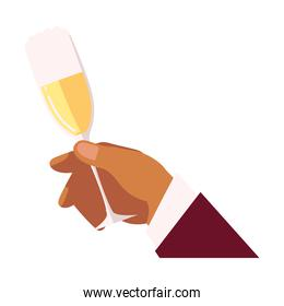 cheers hand holding champagne glass drink liquor