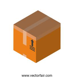 Delivery and logistics isometric box vector design