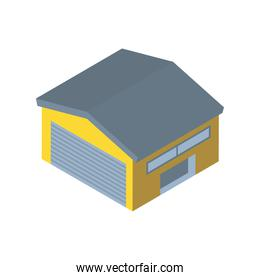 Delivery and logistics isometric garage vector design