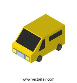 Delivery and logistics isometric truck vector design