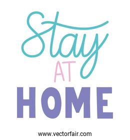 stay at home cute poster on a white backgorund