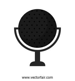 microphone with circle shape on a white background
