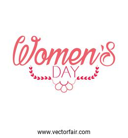 Lettering design of womens day, colorful design