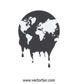 oil drops petroleum resources in world planet earth