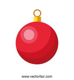 happy merry christmas ball color red hanging