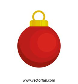 happy merry christmas red ball hanging decorative icon