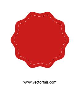red seal stamp lace icon