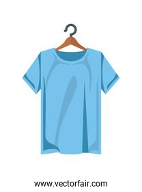 cotton shirt clothes blue color in clothespin