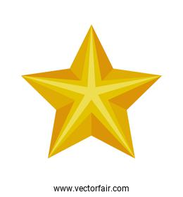 christmas golden star decoration isolared icon