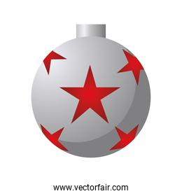 happy merry christmas balls silver and red stars