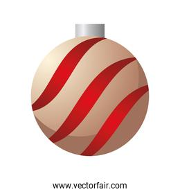 happy merry christmas ball goldena and red hanging
