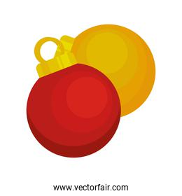 happy merry christmas balls golden and red