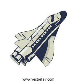 space ship mission flying isolated icon
