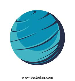 venus planet space isolated icon