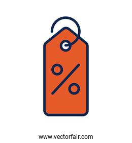 tag with percent symbol flat style icon