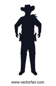 cowboy figure silhouette standing character