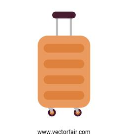 suitcase for travel with a orange color