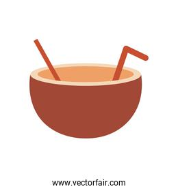 coconut drink on a white background