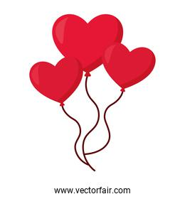 balloons  with a shape of hearts