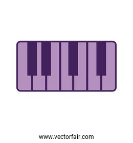 piano on a white background