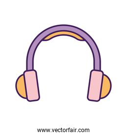 headphone on a white background