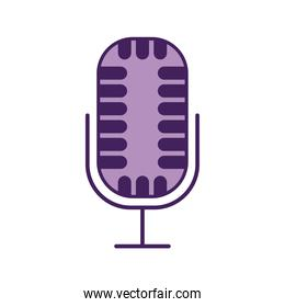 microphone over a white background