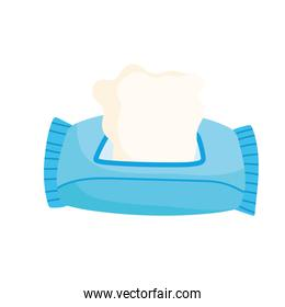 tissue paper in pack icon isolated style white background