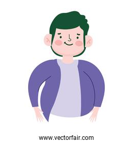 portrait cartoon man young, male character