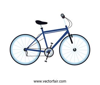 bicycle vehicle blue sport isolated icon