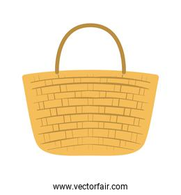 picnic basket with a white background