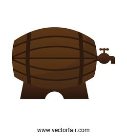 beer barrel on a white background