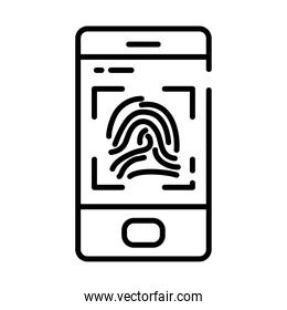 smartphone with fingerprint scan, half line style