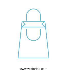 shopping bag line color style icon