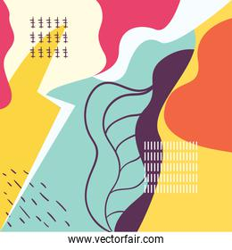 Abstract yellow and green pattern background vector design
