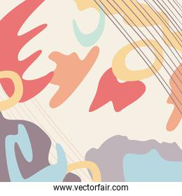 Abstract shapes pattern background vector design