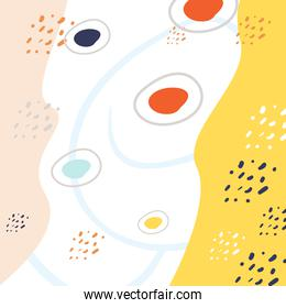 Abstract circles and points pattern background vector design