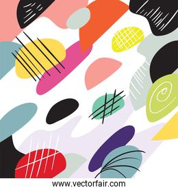 Abstract circles and lines pattern background vector design